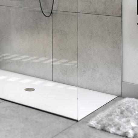 Pure White douchevloeren op maat in Solid Surface